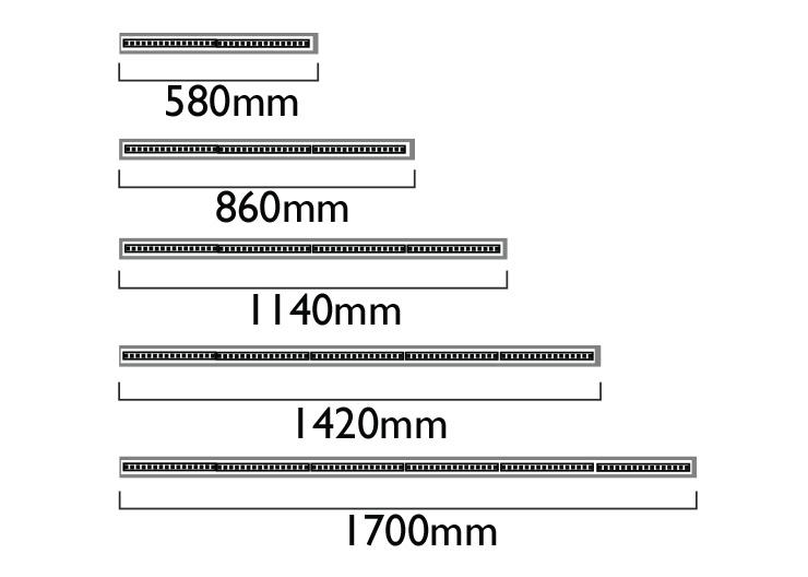 Lengths - Multiple of 280mm LED boards